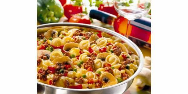 Italiaanse noodle pan