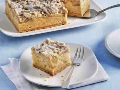 appel abrikoos cake gebak