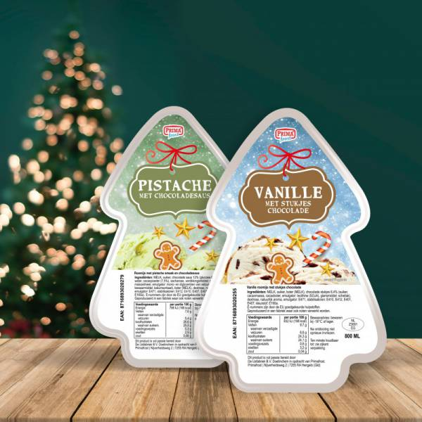 Vanille met stukjes chocolade 2 stuks