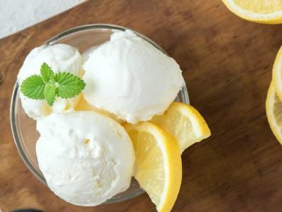 Sorbet citroen ijs